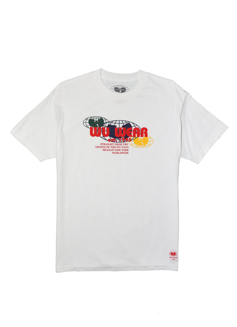MULTI GLOBE TEE - WHITE - Wu Wear