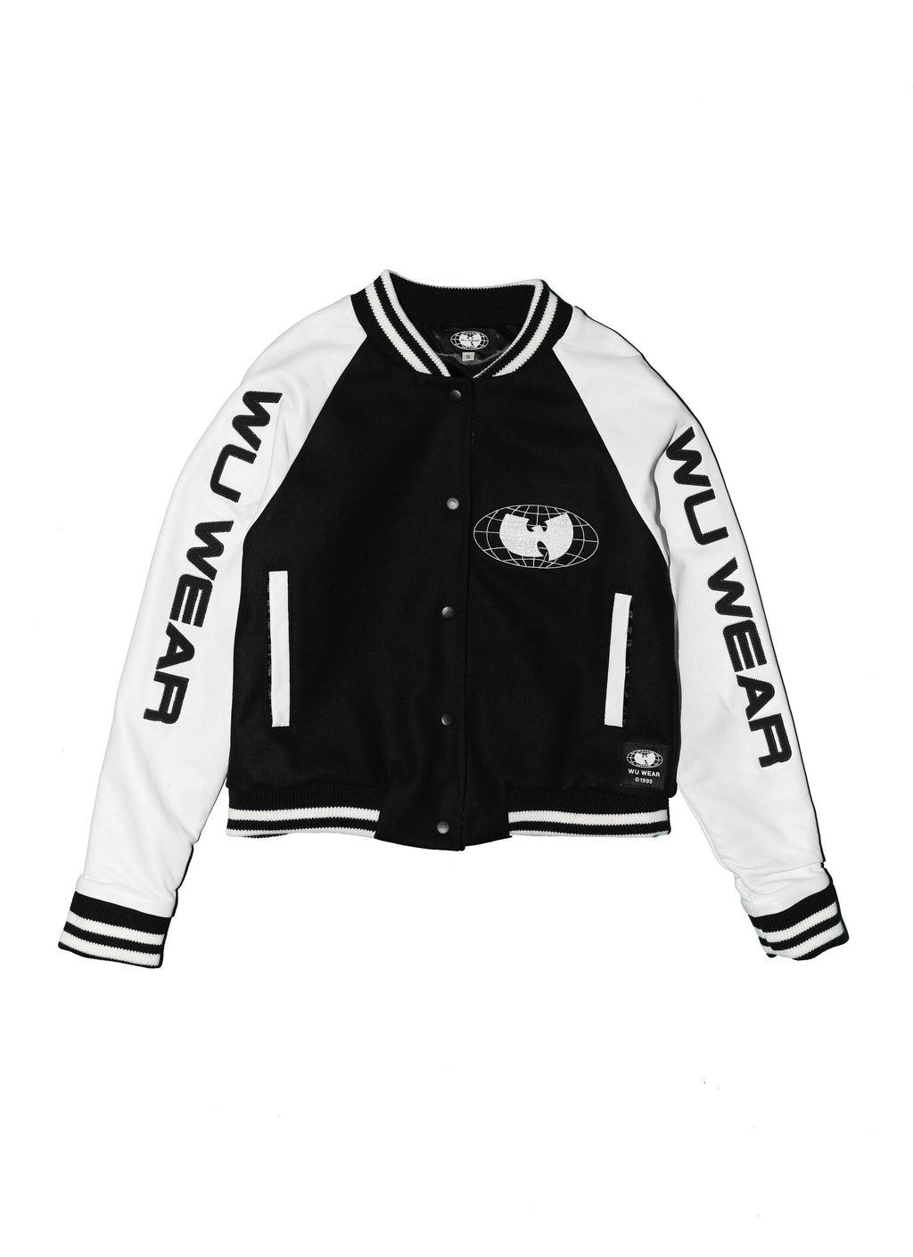 WU WEAR VARSITY JACKET - BLACK AND WHITE - Wu Wear