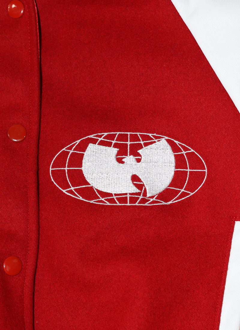 WU WEAR VARSITY JACKET - RED - Wu Wear