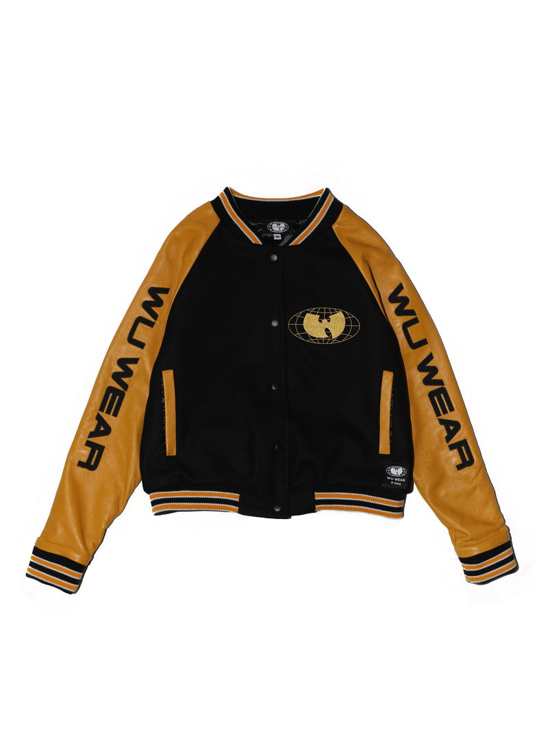WU WEAR VARSITY JACKET - BLACK AND WHITE