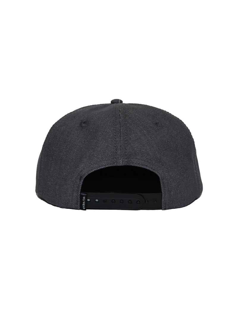 TRIUMPH FORMLESS CAP - WASHED GREY DENIM - Wu Wear