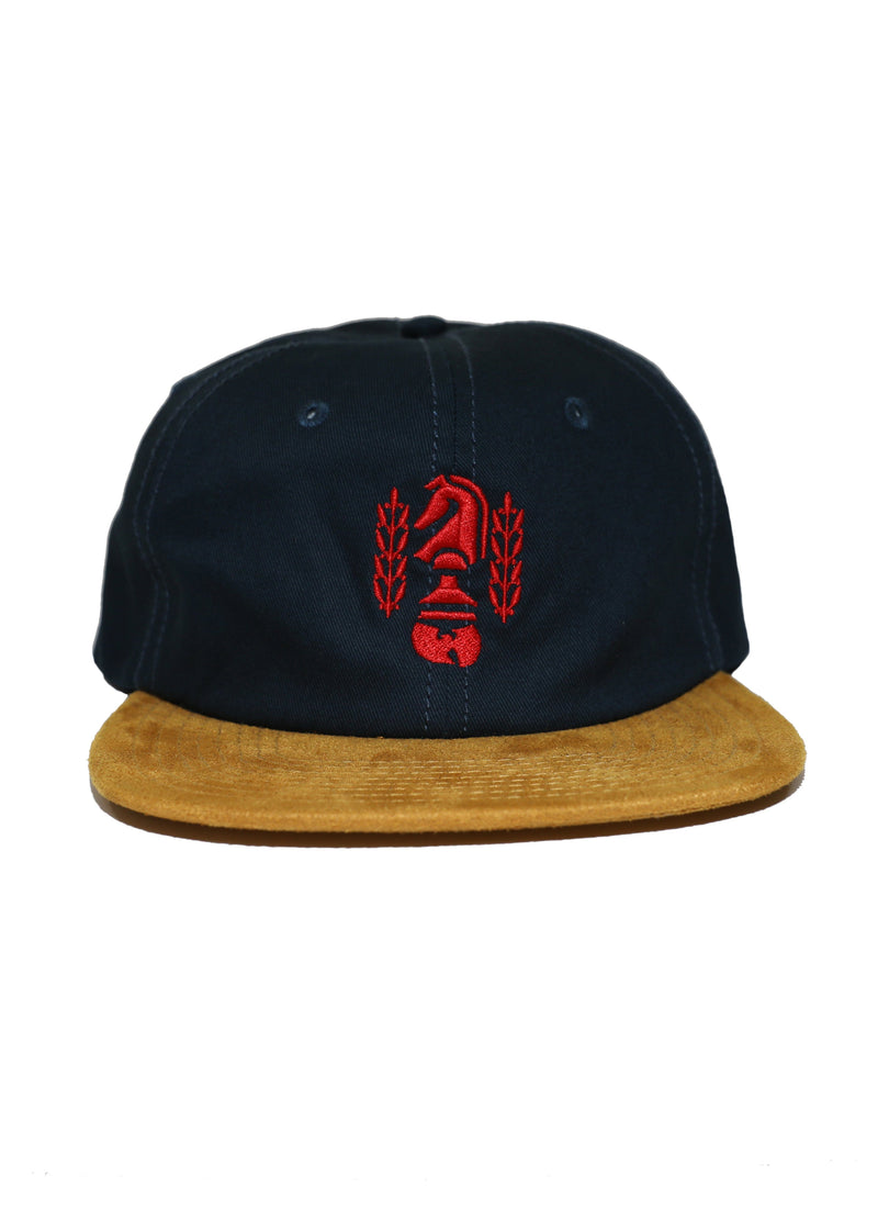 CHESSBOXING FORMLESS CAP - NAVY - Wu Wear