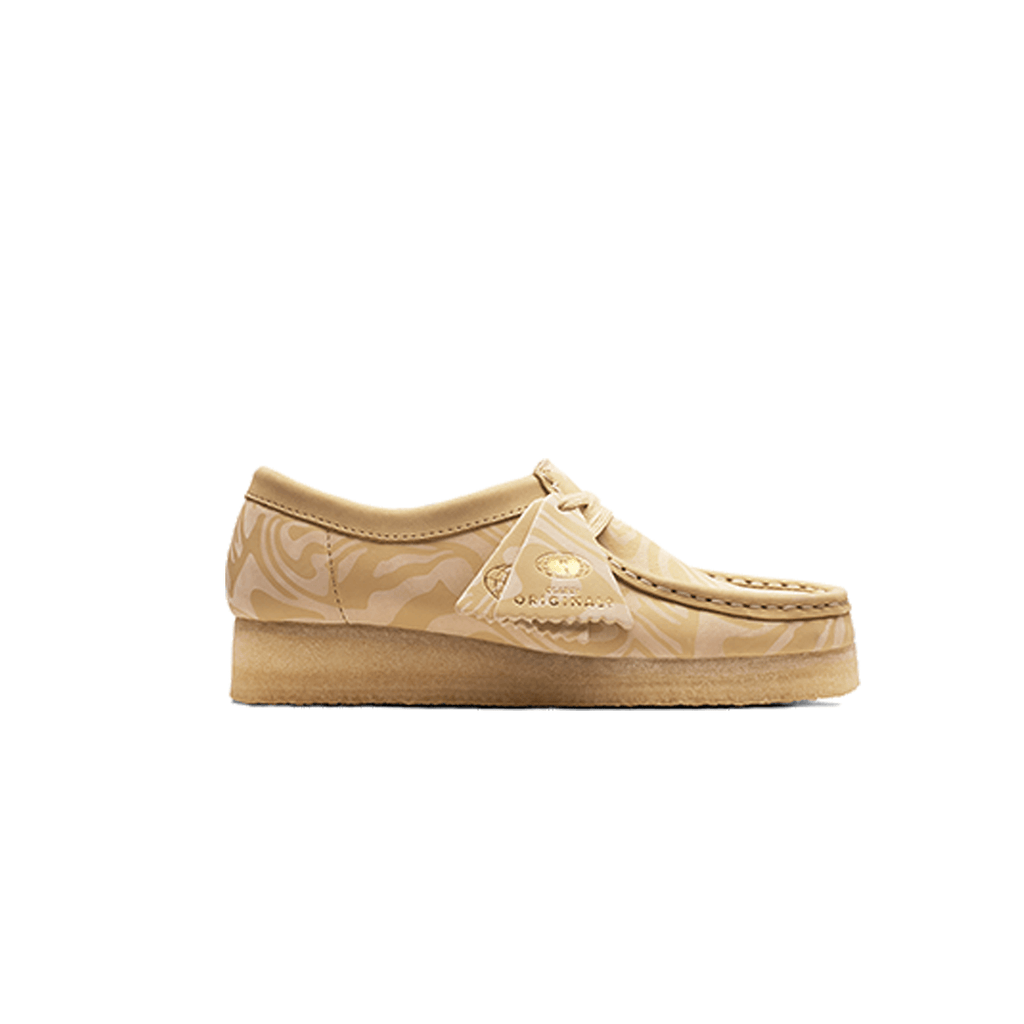 Women's Wallabe Loe Zebra Clarks - Maple - Wu Wear