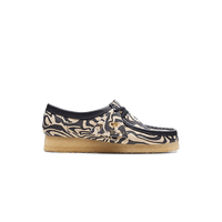 Wu Wear Women's Wallabee Lo Zebra Clarks Navy