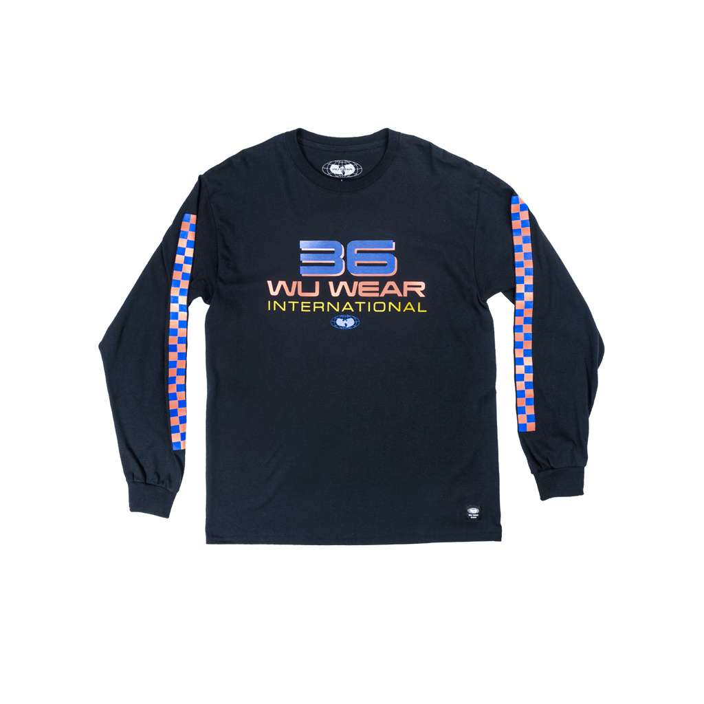 36 INTERNATIONAL LONG SLEEVE SHIRT - BLACK - Wu Wear