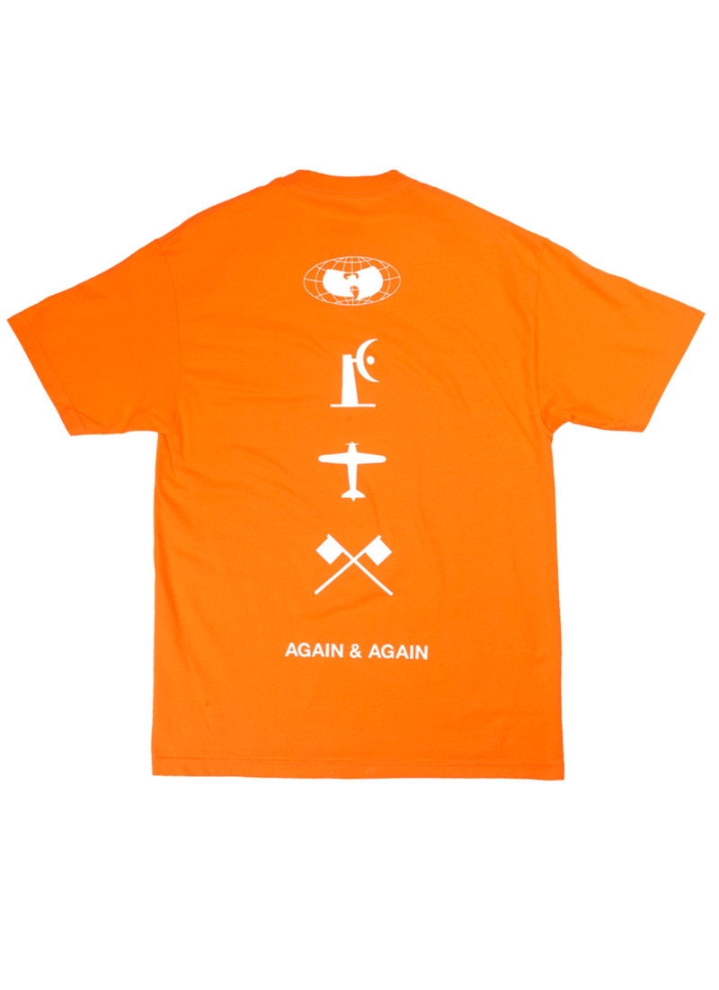 FOUR ICONS TEE - ORANGE - Wu Wear