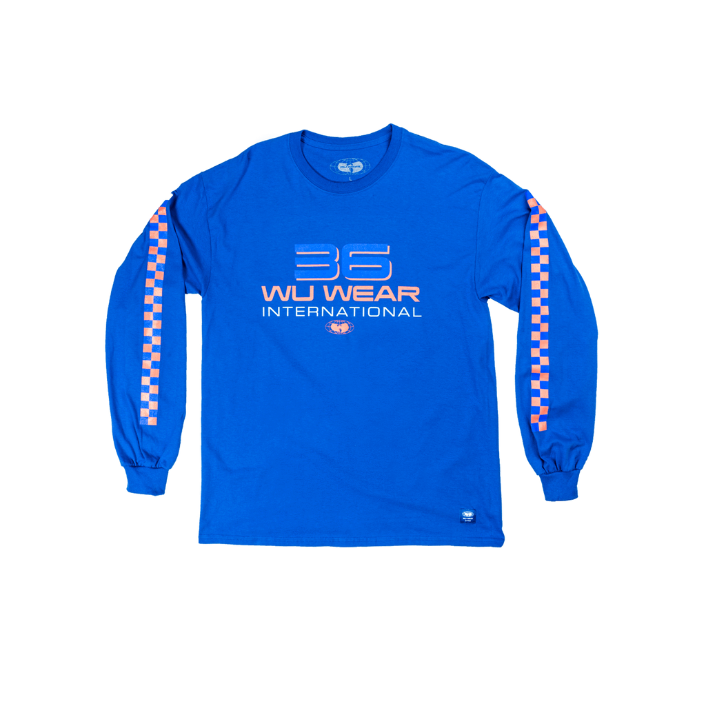 36 INTERNATIONAL LONG SLEEVE SHIRT - BLUE - Wu Wear