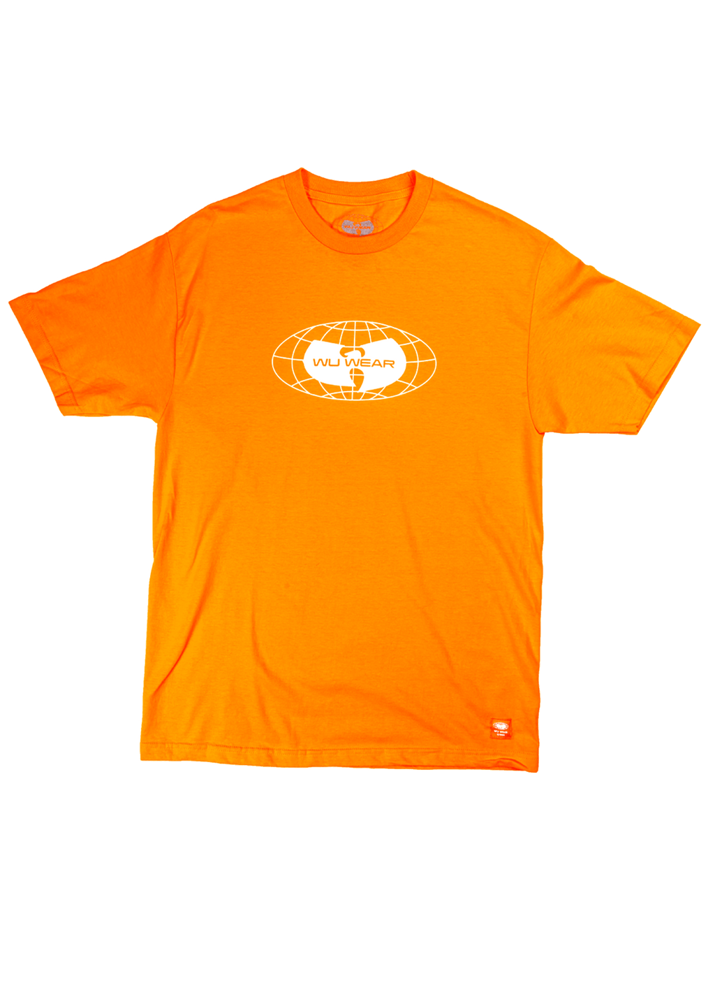 GLOBE LOGO TEE - ORANGE - Wu Wear