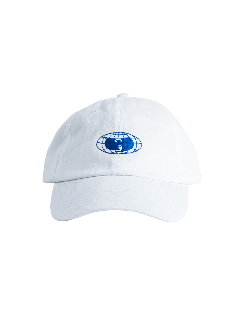 GLOBE LOGO HAT - WHITE - Wu Wear