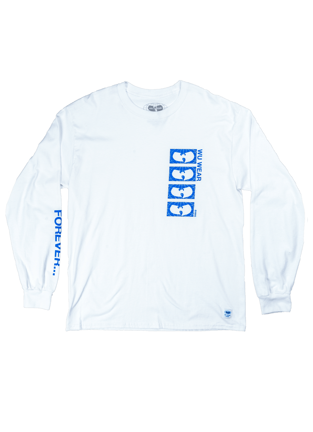 FOREVER LOGO LONG SLEEVE SHIRT - WHITE - Wu Wear