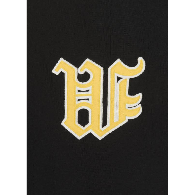 VARSITY W BASEBALL JERSEY - BLACK - Wu Wear