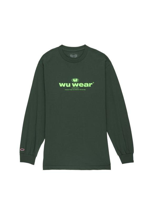 INTERNATIONAL LONG SLEEVE - GREEN - Wu Wear