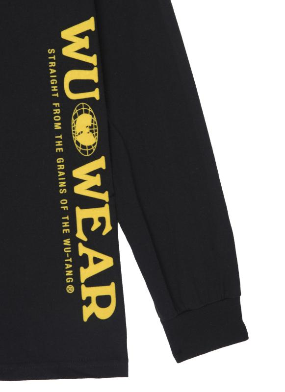 VERTICAL GRAINS LONG SLEEVE - BLACK - Wu Wear