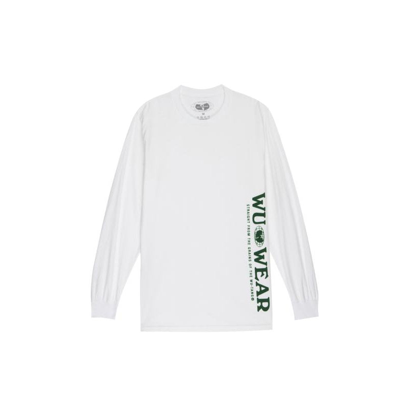 VERTICAL GRAINS LONGSLEEVE - WHITE - Wu Wear