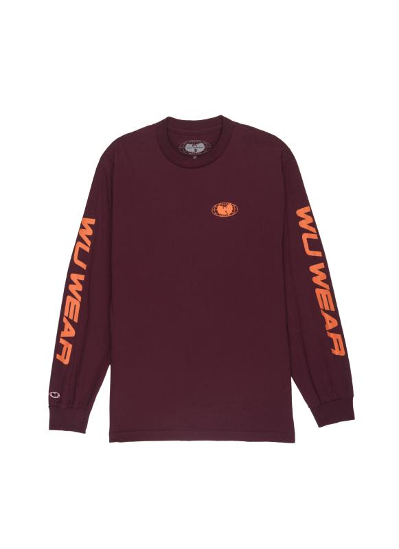 RACE LONG SLEEVE - BURGUNDY - Wu Wear