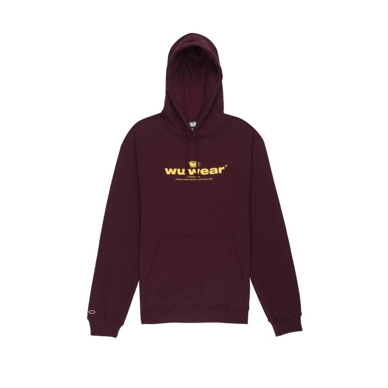 INTERNATIONAL HOODIE - BURGUNDY - Wu Wear