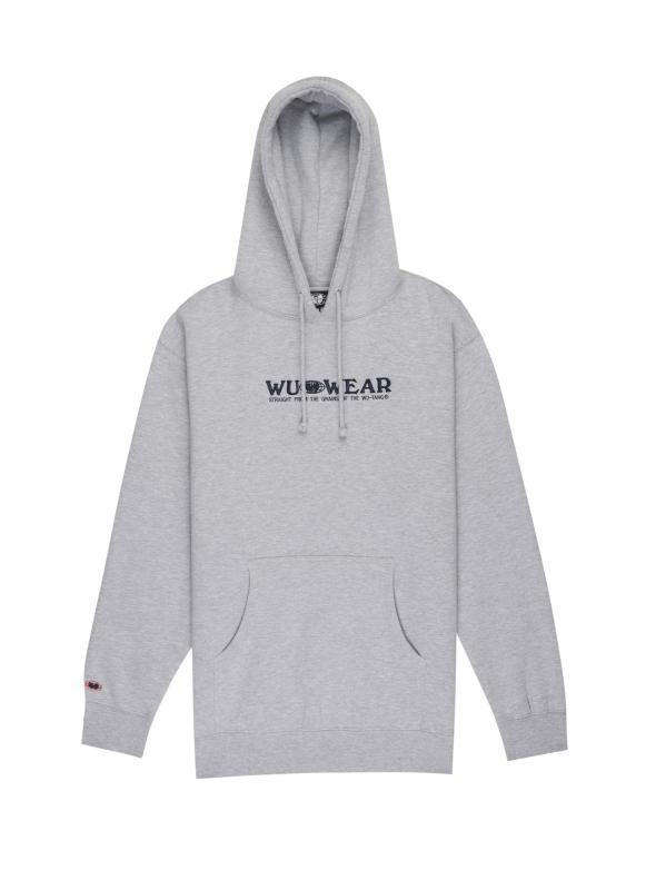 GRAINS TEXT HOODIE - GREY - Wu Wear
