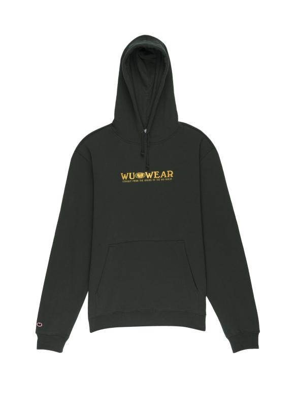 GRAINS TEXT HOODIE - GREEN - Wu Wear