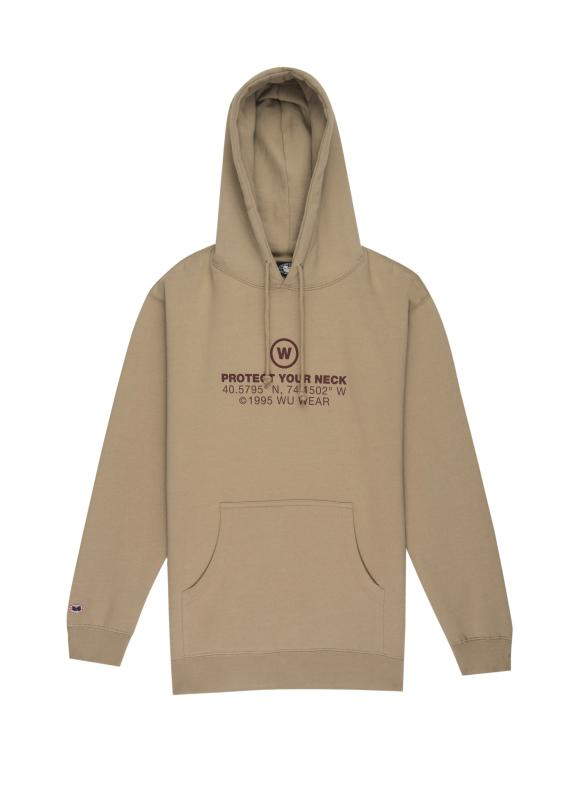 GRAINS TEXT HOODIE - GREY