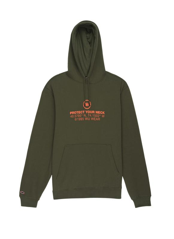 GRAINS TEXT HOODIE - GREEN