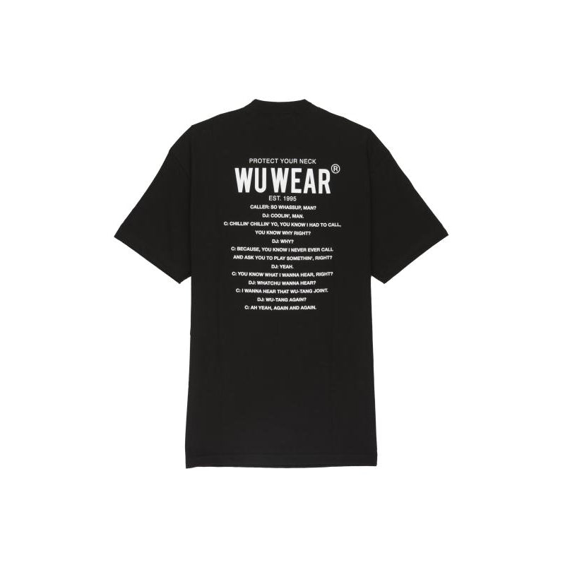 PROTECT YOUR NECK TEE - BLACK - Wu Wear