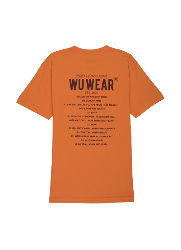 PROTECT YOUR NECK TEE - ORANGE - Wu Wear