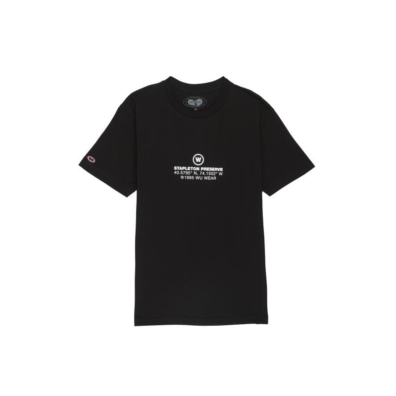 STAPLETON PRESERVE TEE - BLACK - Wu Wear