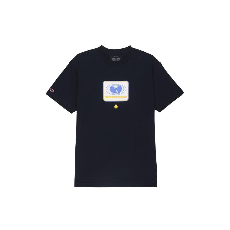 DROP GLOBE TEE - NAVY - Wu Wear