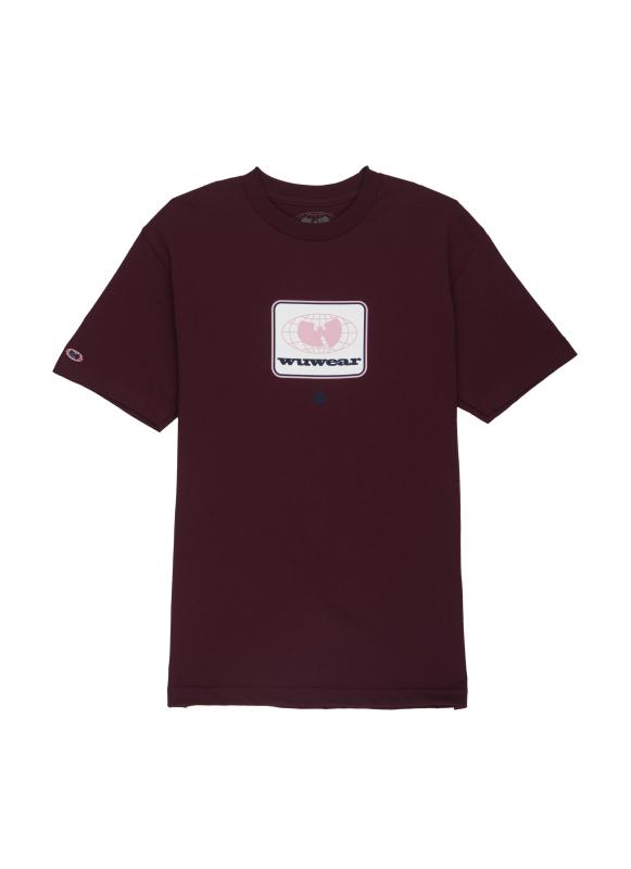 DROP GLOBE TEE - BURGUNDY - Wu Wear