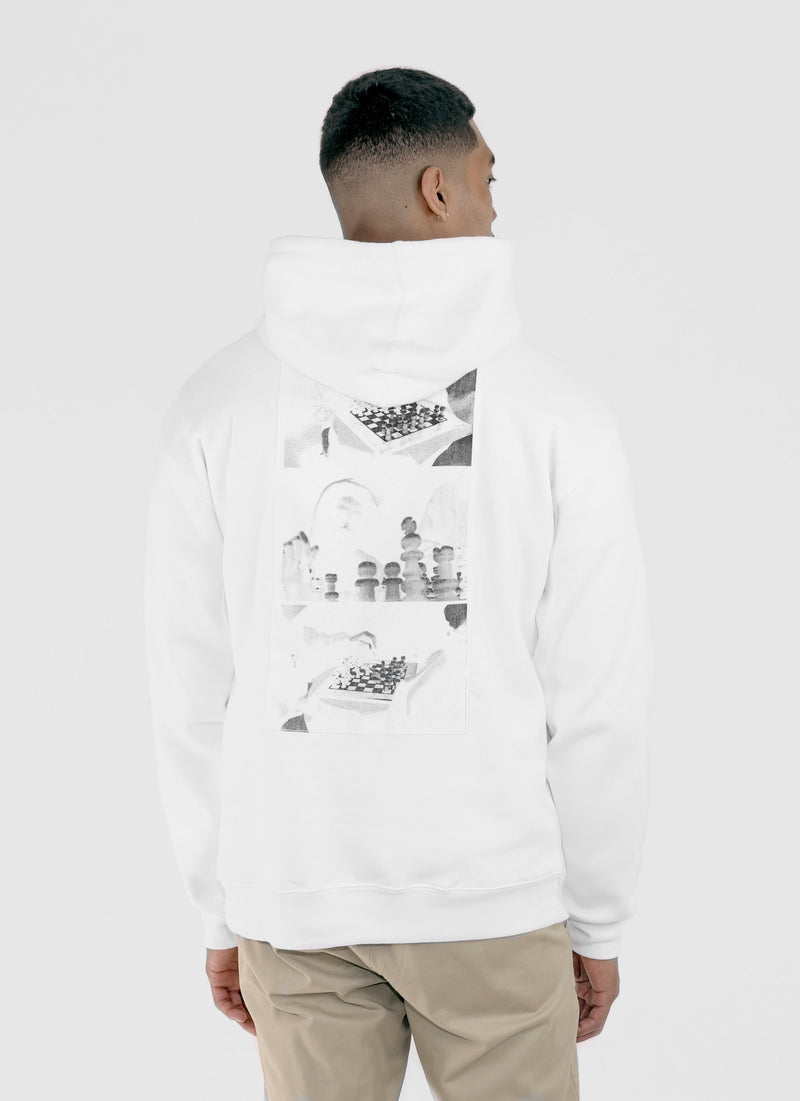 CHESSBOXING HOODIE - WHITE - Wu Wear