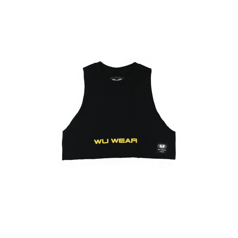 WU WEAR CROPPED TANK - BLACK - Wu Wear