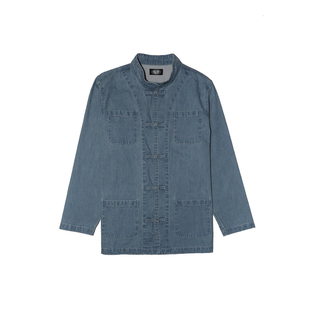 MANDARIN DENIM JACKET - Wu Wear