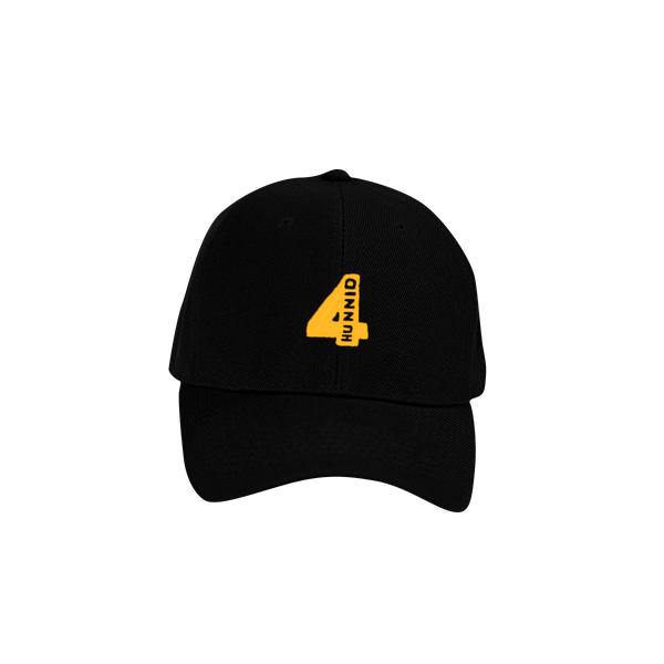 4 Logo Team Hat - Black - 4Hunnid