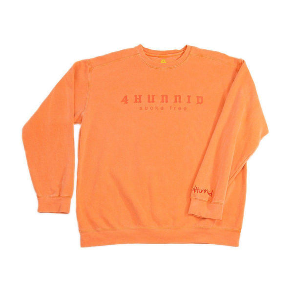 SUCKA FREE CREWNECK - ORANGE - 4Hunnid