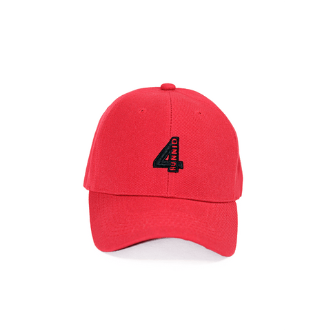 4 Logo Team Hat - Red 4Hunnid
