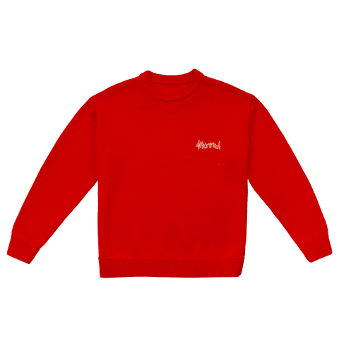 Merino Wool Sweater - Red - 4Hunnid