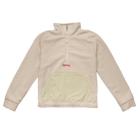 1/4 Zip Pullover - Cream - 4Hunnid
