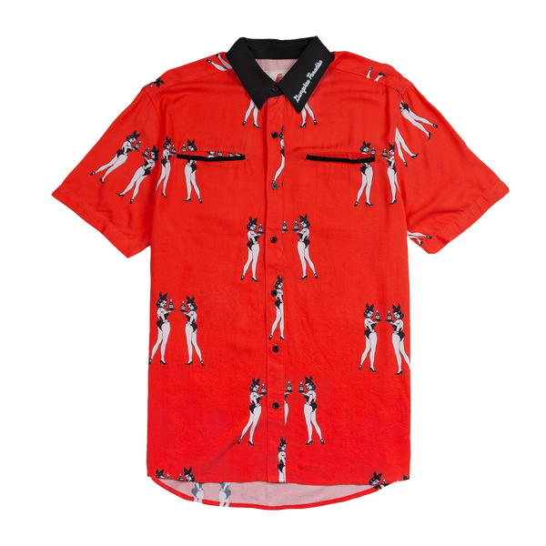4hunnies Button Up - Red-4Hunnid