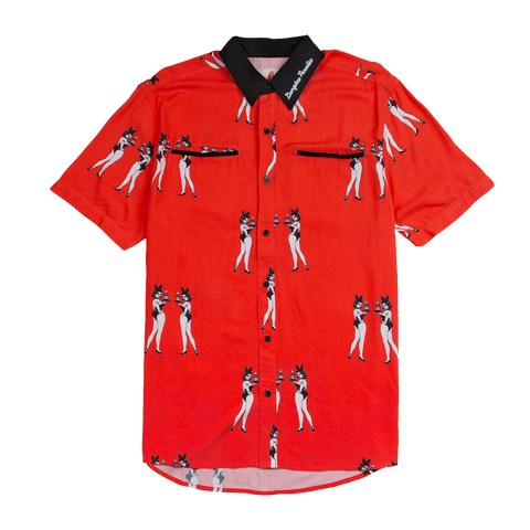 4hunnies Button Up - Red - 4Hunnid