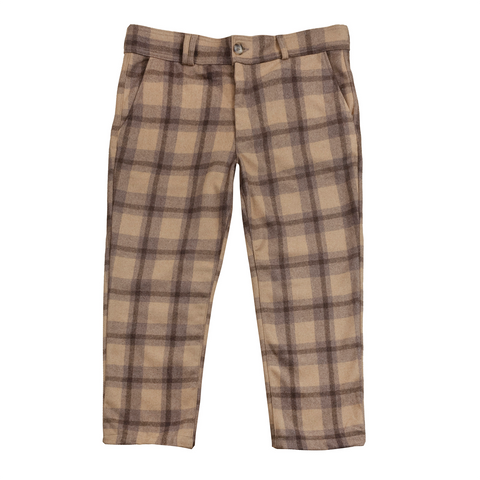 Lumberjack Heavyweight Crop Chino - Brown/Black