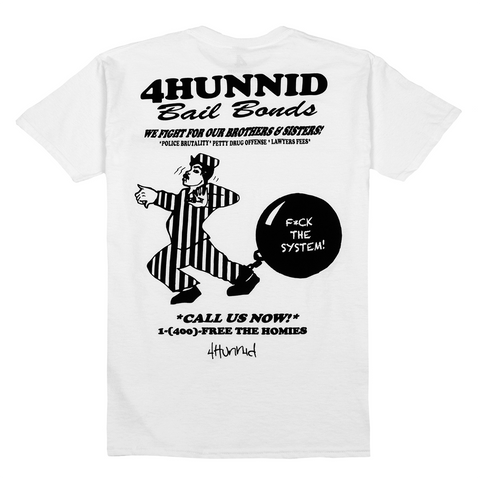 Bail Bonds Tee - White