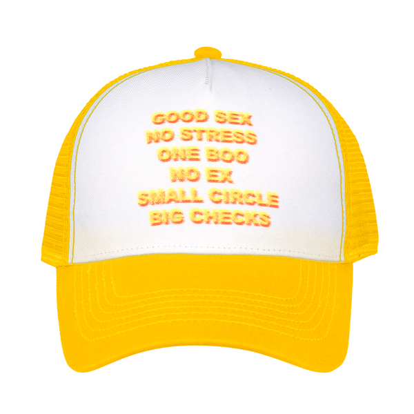 Good Sex Trucker Hat - Yellow