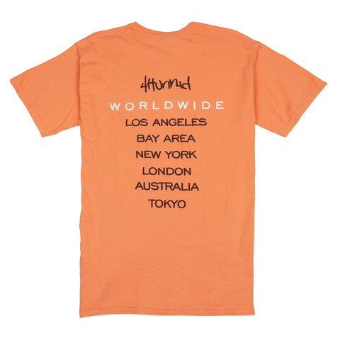 4hunnid Worldwide Tee - Orange