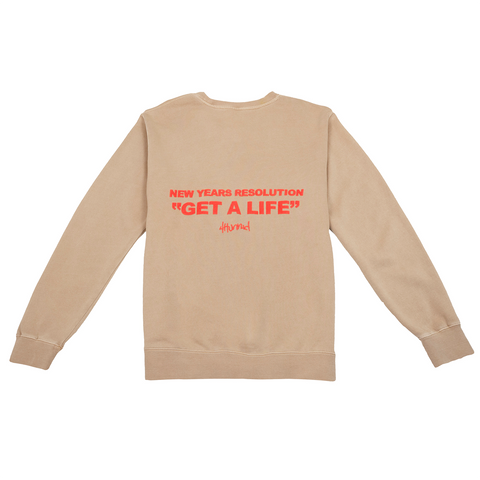 New Years Resolution Crewneck Fleece - Sandstone
