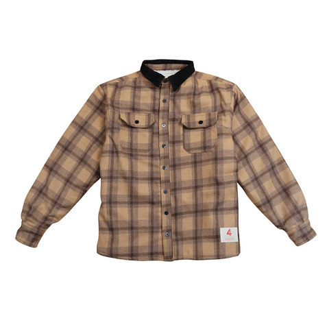 4hunnid Lumberjack Heavyweight Sherpa Flannel - Brown/Black