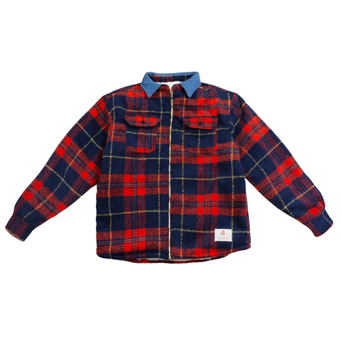 4hunnid Lumberjack Heavyweight Sherpa Flannel - Red/Navy