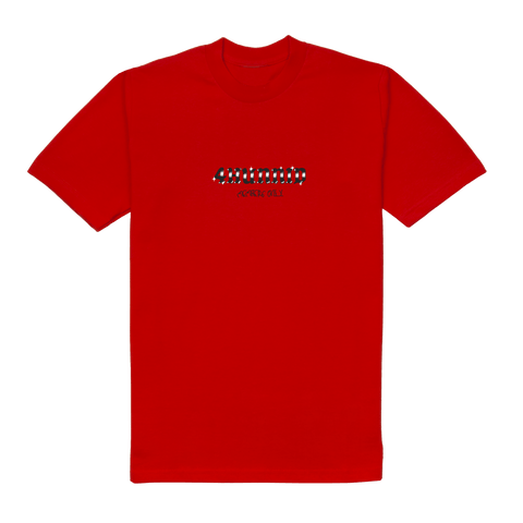 Angel Members Tee - Red 4Hunnid