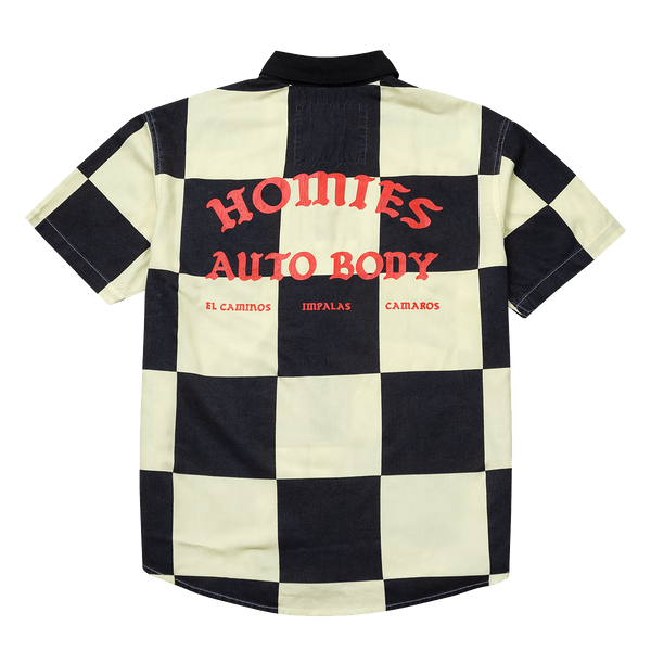 Homies Auto Body Button Down - 4Hunnid