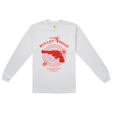 Bulletproof Long Sleeve - White 4Hunnid