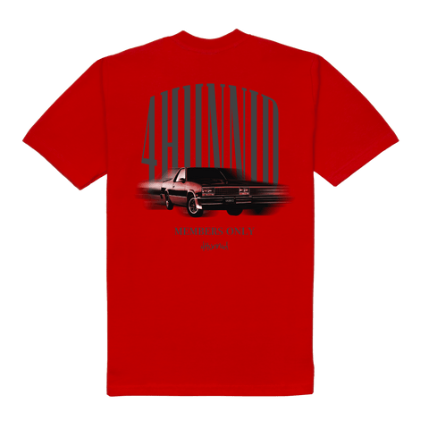 Fast Car Tee - Red - 4Hunnid